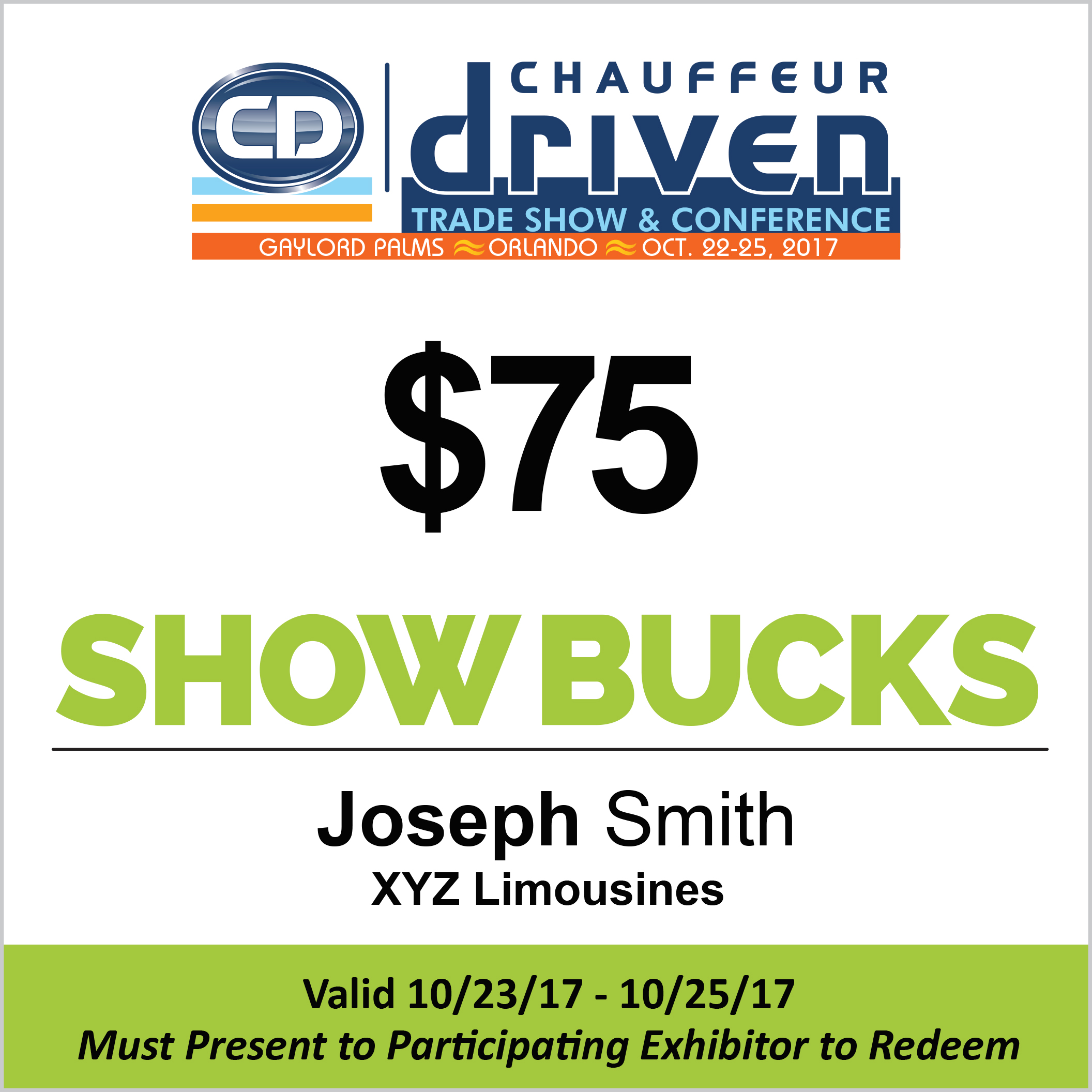 Show Bucks Redeem at the CD Show Orlando
